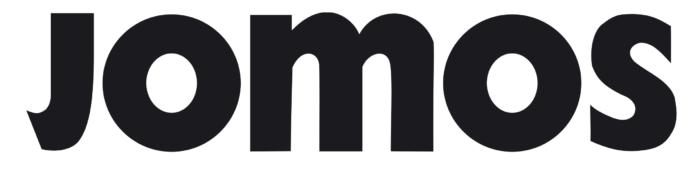 Jomos logo, logotype, wordmark
