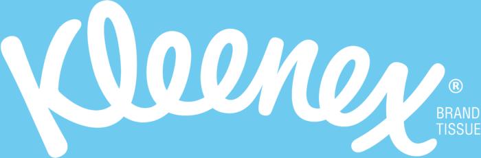 Kleenex logo, light blue