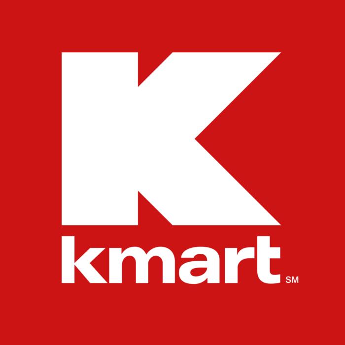 Kmart logo, red background
