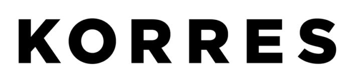 Korres logo, wordmark