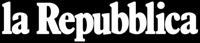 La Repubblica logo, black