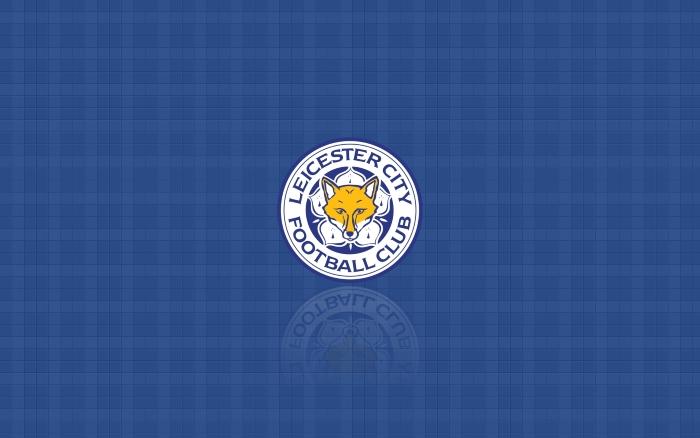Leicester City blue desktop wallpaper with crest (logo) 1920x1200
