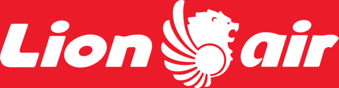 Lion Air logo, red background