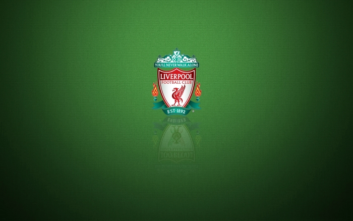 Liverpool wallpaper, green desktop background with club crest - 1920x1200 px