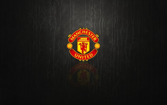 Manchester United black wallpaper with logo - 1920x1200