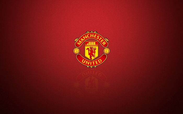 Manchester United widescreen desktop background with logo - 1920x1200