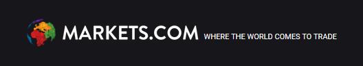 Markets.com logo, black