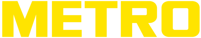 Metro Cash & Carry logo (yellow-white)