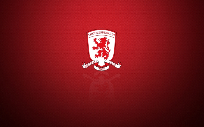 Middlesbrough FC background with logo, widescreen desktop wallpaper 1920x1200 px