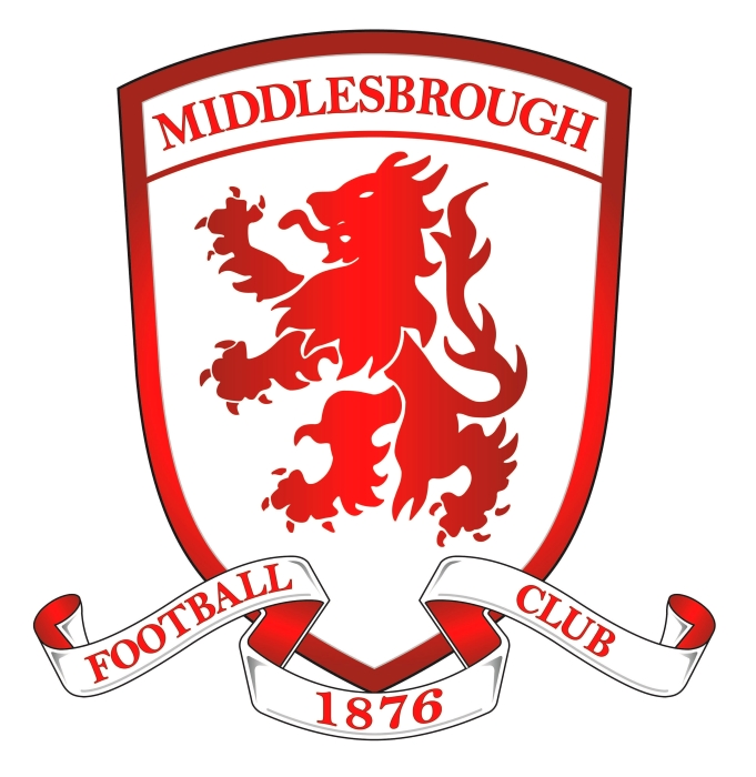 Middlesbrough logo, gradient