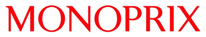 Monoprix logo, white bg