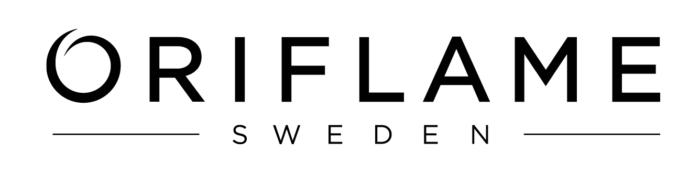 Oriflame logo, logotype, white