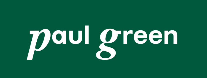 Paul Green logo, logotype