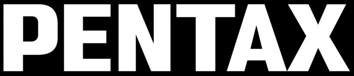 Pentax logo, black bg