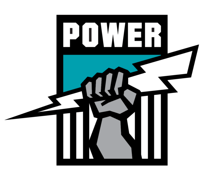 Port Adelaide Power logo, black