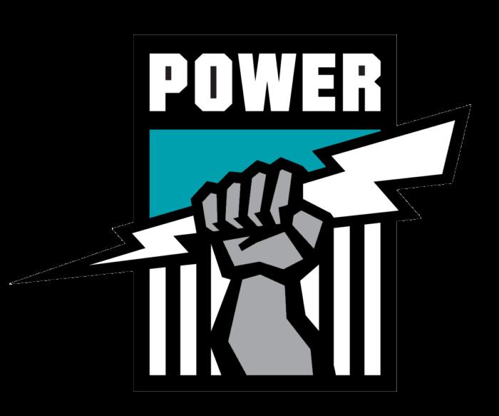 Port Adelaide Power logo, black