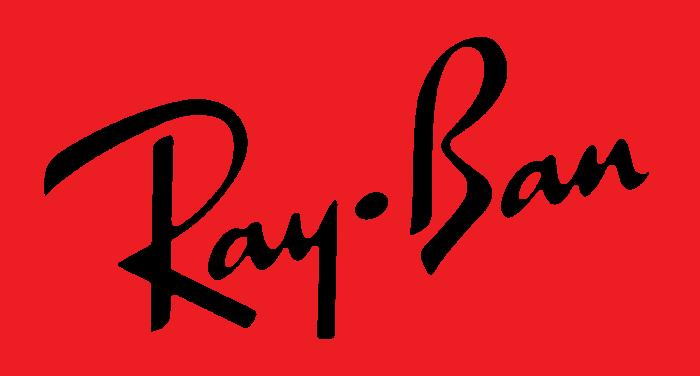 Ray-Ban logo, red