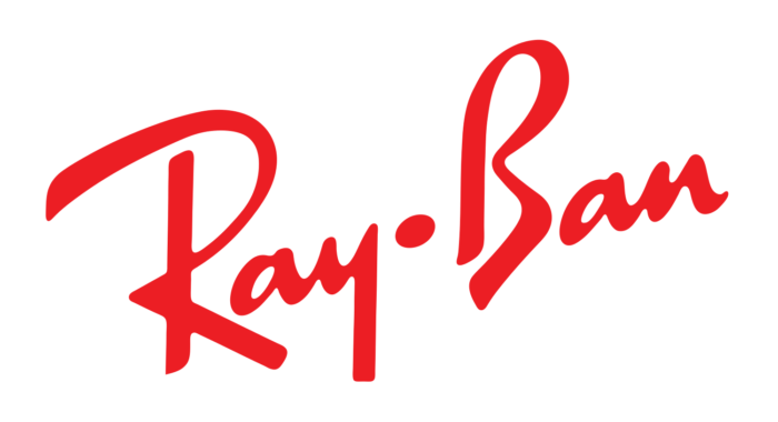 Ray-Ban logo, white-red