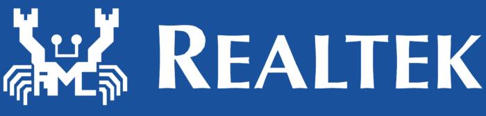 Realtek logo, blue bg
