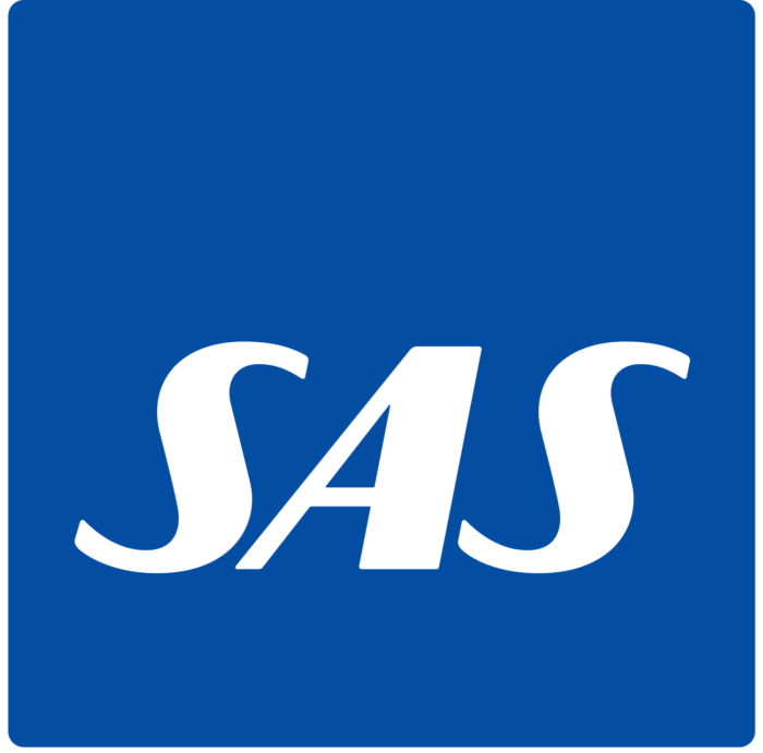 SAS Scandinavian Airlines logo, blue