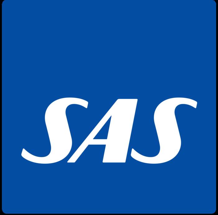 SAS Scandinavian Airlines logo, blue
