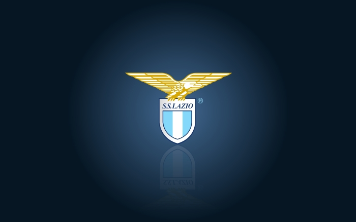 SS Lazio wallpaper with club logo, blue background - 1920x1200px