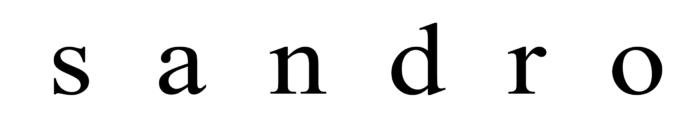 Sandro logo, wordmark