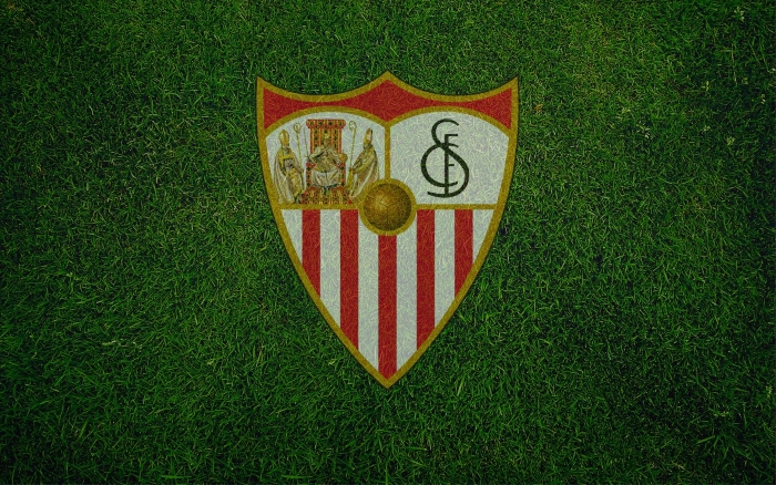 Sevilla FC wallpaper, background with logo (logotipo) 1920x1200