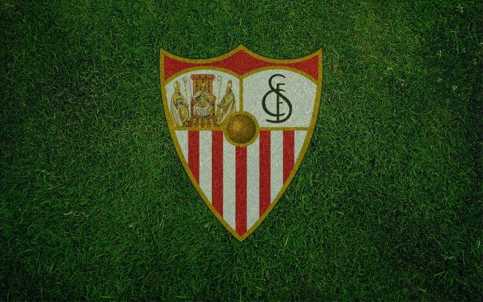 Sevilla FC wallpaper, background with logo (logotipo) 1920x1200