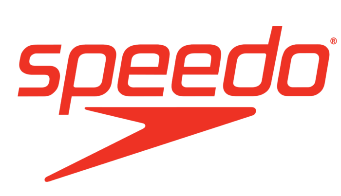 Speedo logotype, logo, emblem, symbol, red
