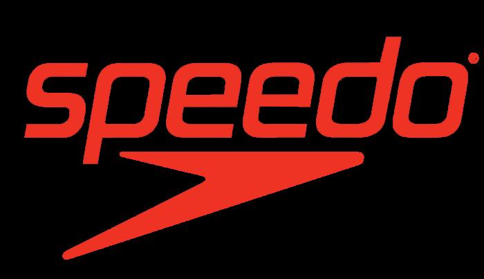 Speedo logotype, logo, emblem, symbol, red