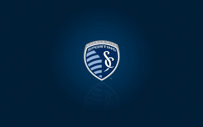 MLS club Sporting KC wallpaper, blue desktop background with club logo 1920x1200
