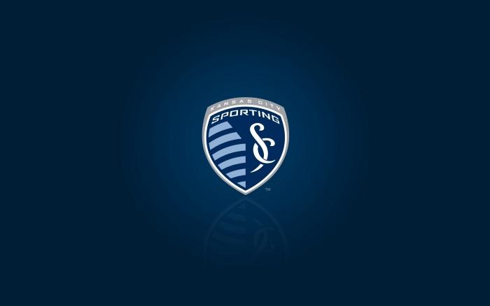MLS club Sporting KC wallpaper, blue desktop background with club logo 1920x1200