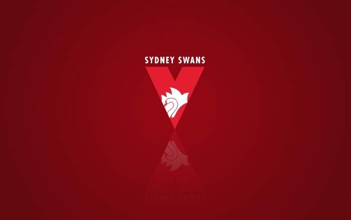 Sydney Swans wallpaper with team logo, wide background 1920x1200px