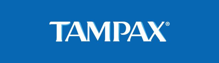 Tampax logo, blue