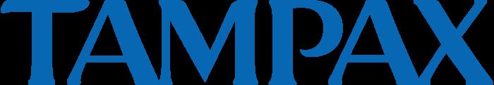 Tampax logo, light blue