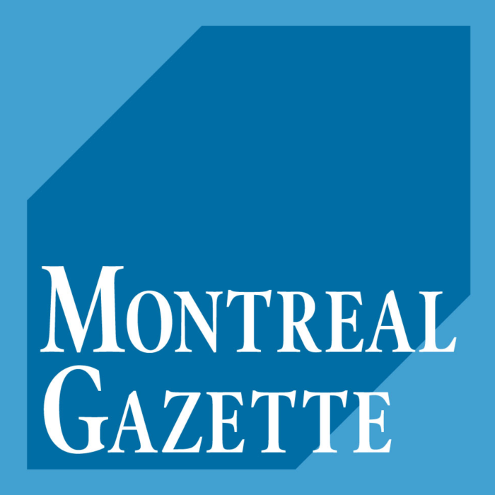 The Montreal Gazette logo, logotype