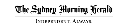 The Sydney Morning Herald logo, slogan