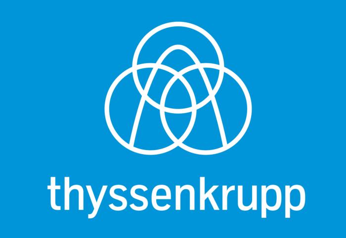 Thyssenkrupp logo, blue