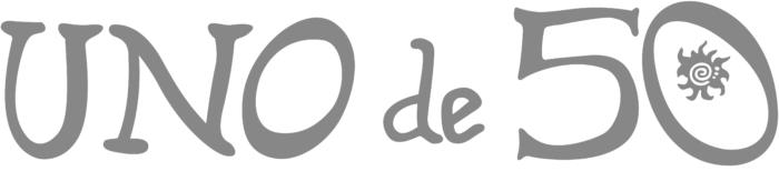 UNO de 50 logo, white background