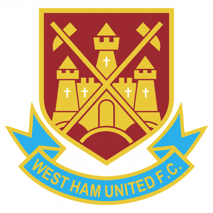 West Ham United FC logo yellow