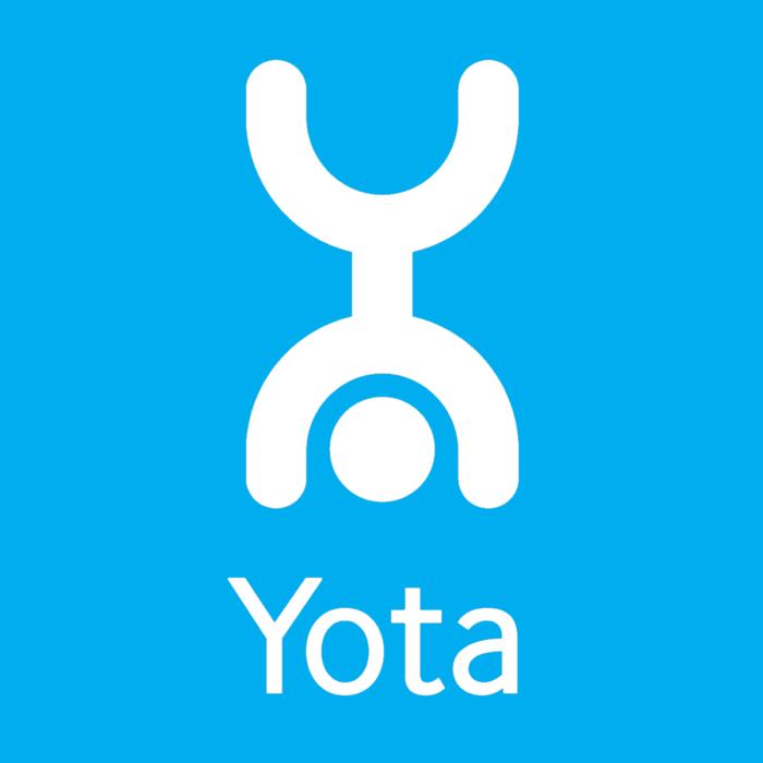 Yota logo, blue