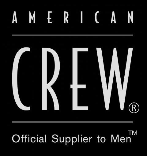 American Crew logo, black