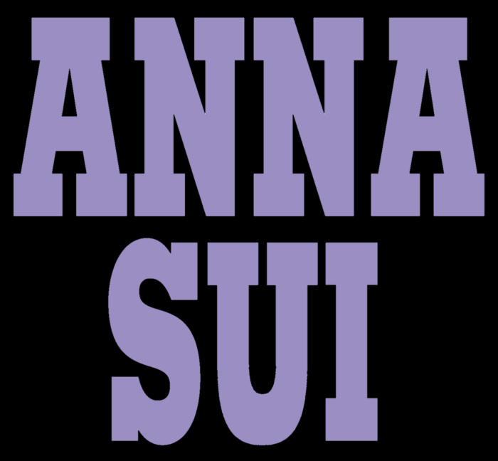 Anna Sui logo, black-purple