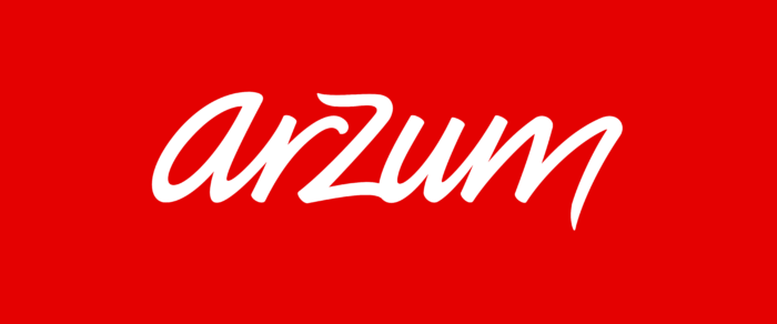 Arzum logo, red background