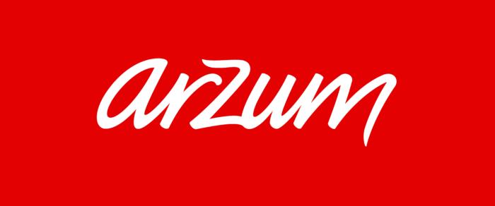 Arzum logo, red background