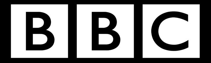 BBC logo, black background