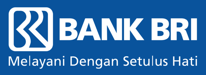 Bank BRI logo, blue background