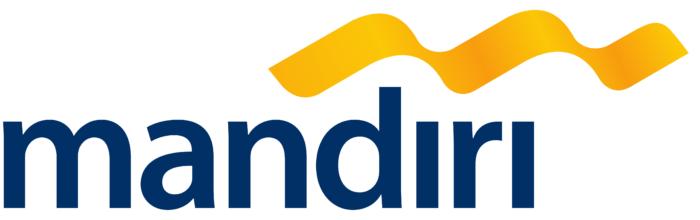 Bank Mandiri logo, white bg