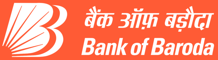 Bank of Baroda logo, orange background